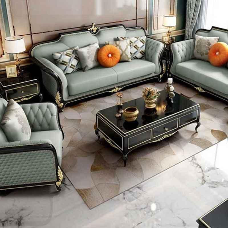 Bộ sofa da phong cách tân cổ điển sang trọng SF606