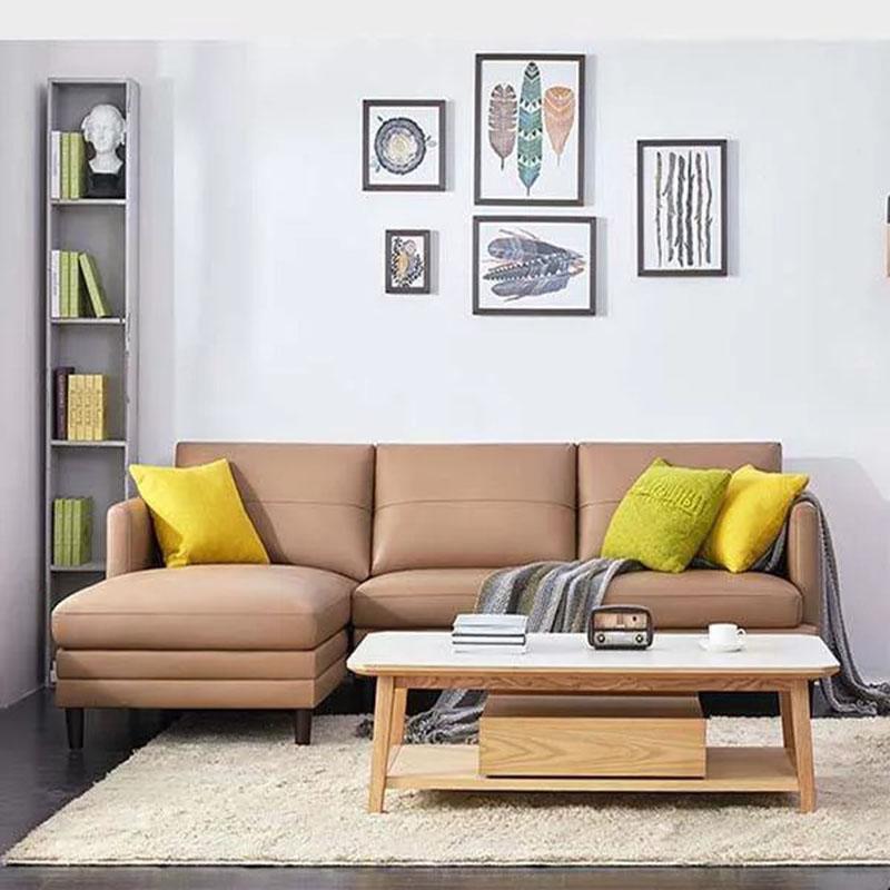 Ghế sofa da nhập khẩu cho phòng khách thêm đẳng cấp SF884