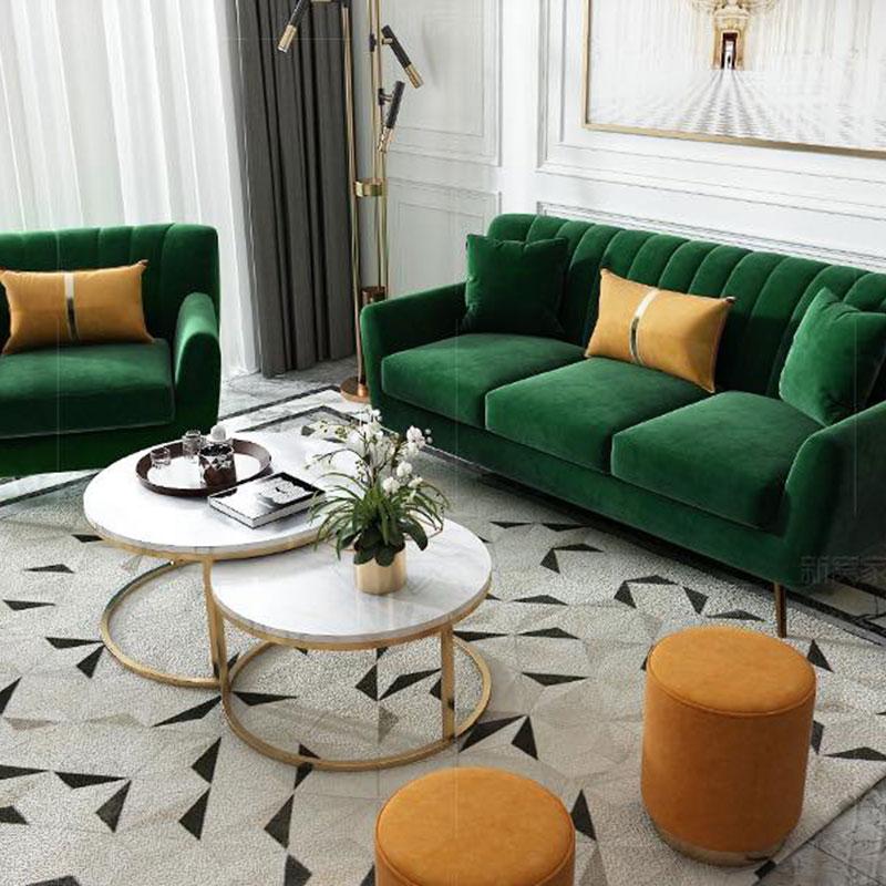 Ghế sofa vải nhung xanh ngọc nhập khẩu SF692