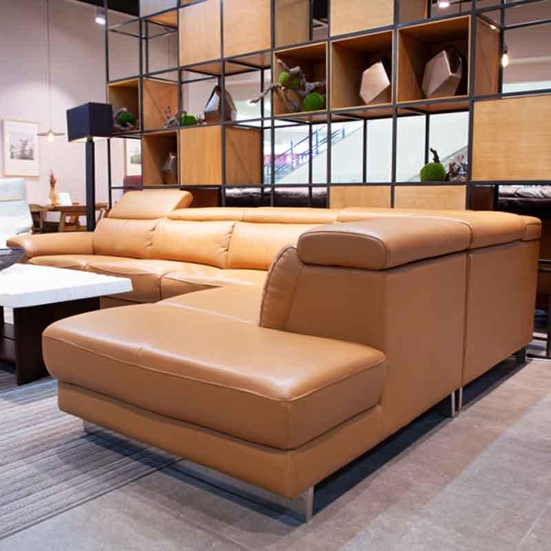 Sofa góc da cao cấp 5 chỗ ngồi cực êm SF659