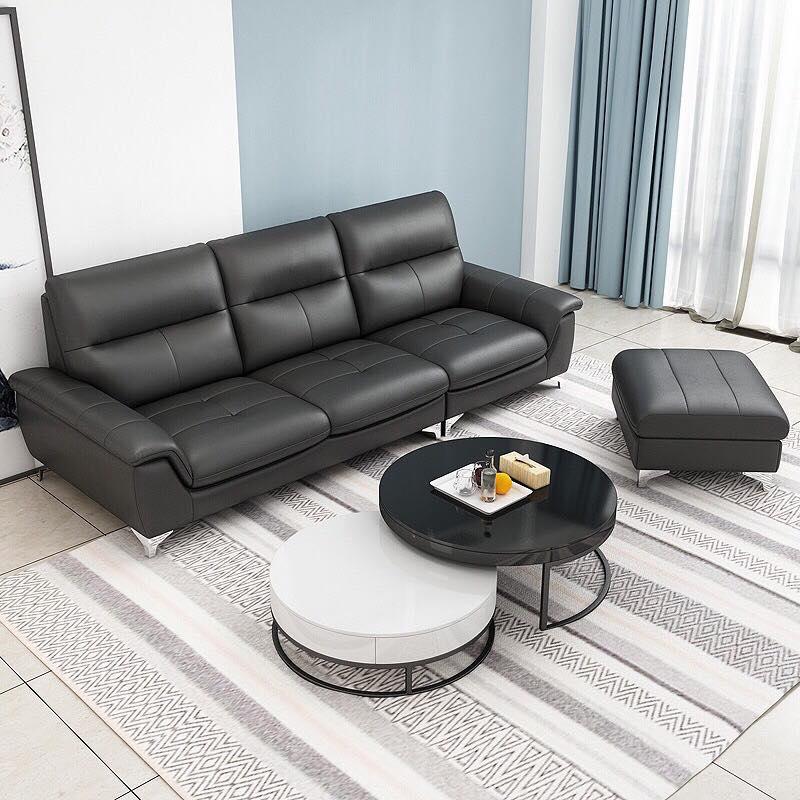Sofa lưng phao bọc da cao cấp SF683