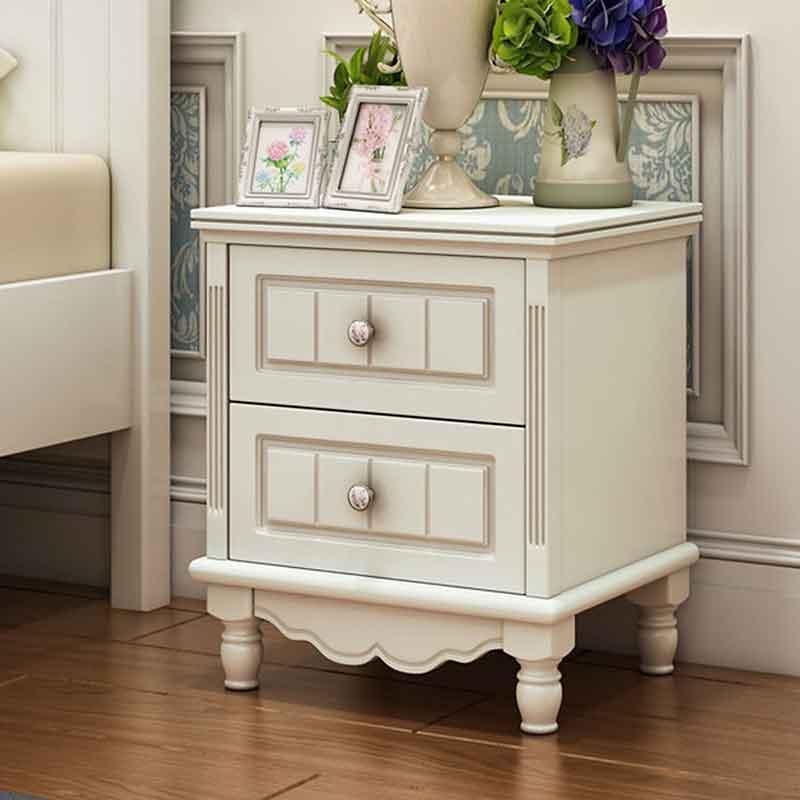 Tủ tab đầu giường phong cách tân cổ điển 2 ngăn kéo TA869