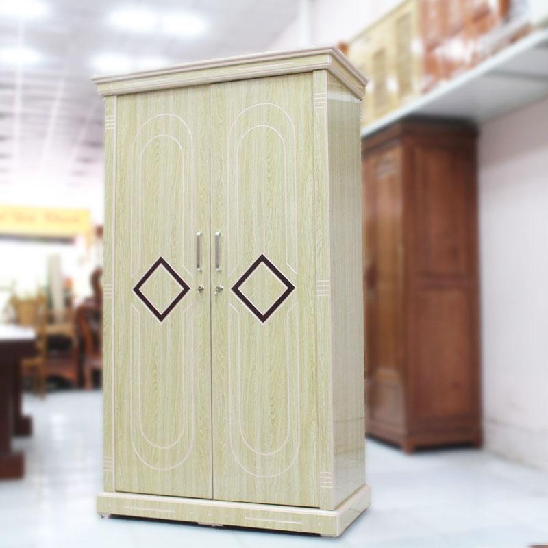 Tủ quần áo gỗ công nghiệp MDF 2 cánh màu sáng TQ869