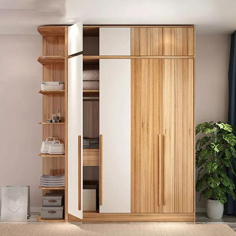 Tủ quần áo thiết kế cho gia đình kèm giá để đồ TQ456