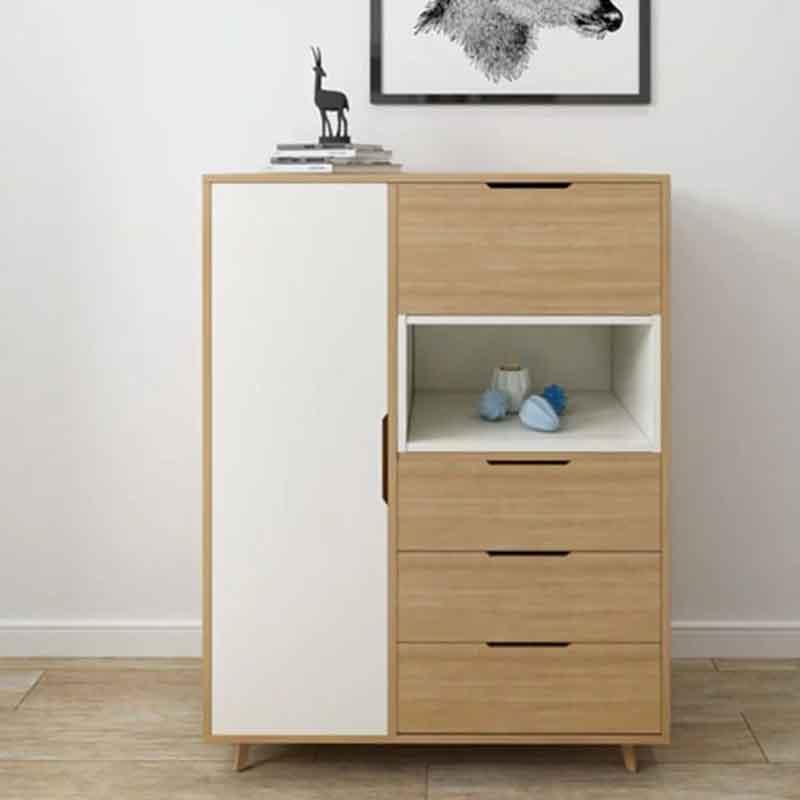 Tủ đựng đồ bằng gỗ MDF chắc chắn, nhiều khoang chứa TT200