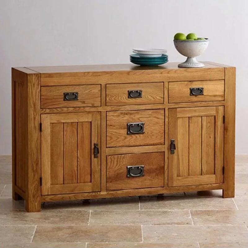 Tủ trang trí gỗ sồi 5 ngăn kéo để đồ TT332