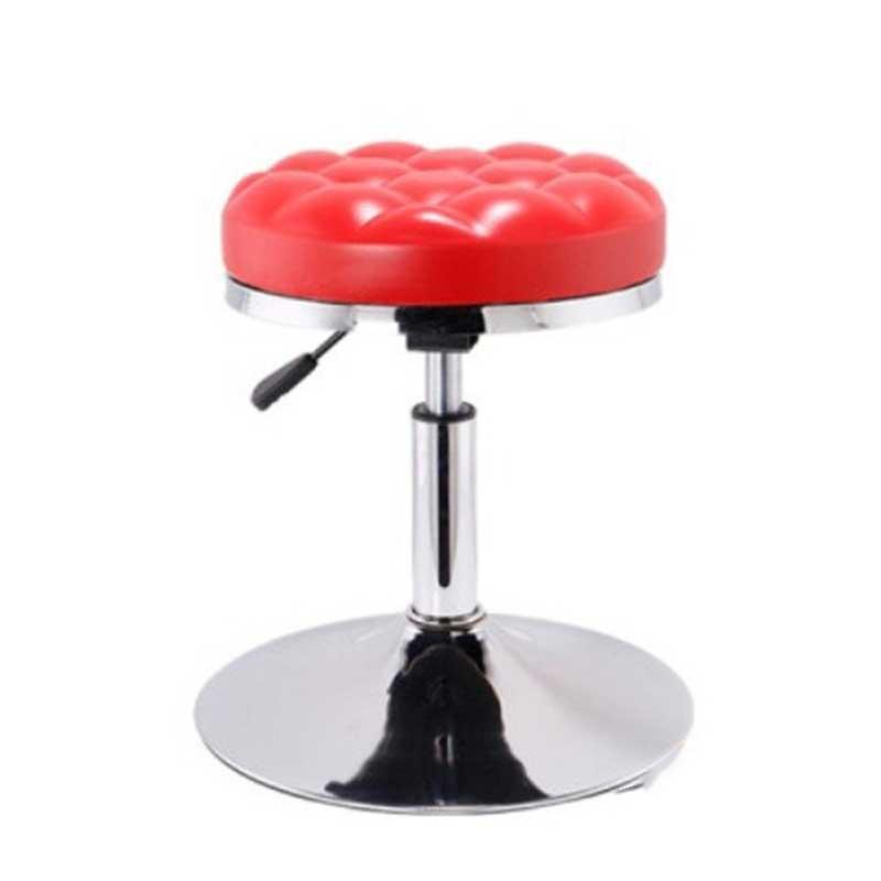 Ghế Bar đôn tròn chân trụ, mặt ghế nệm da xoay 360 độ BG988