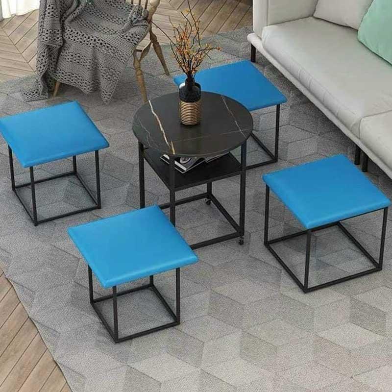 Bộ bàn ghế lập phương gấp gọn thông minh 5 trong 1 GC522 l