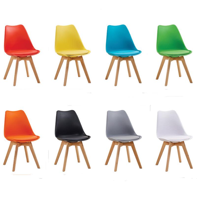 Ghế Eames chân gỗ mặt ghế bọc nệm GC658