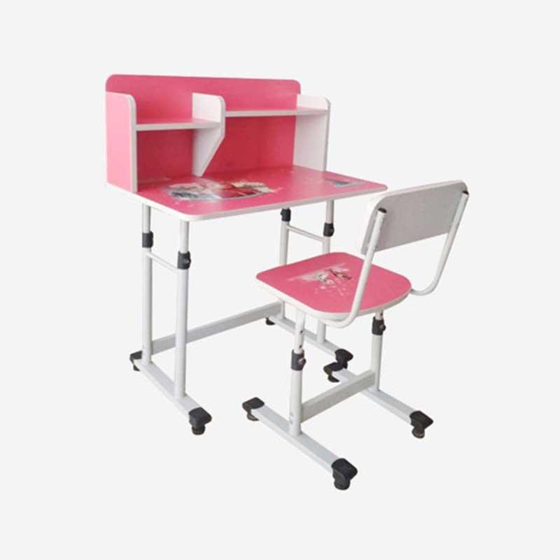 Bộ bàn ghế kèm giá sách cho học sinh cấp 1 BH333