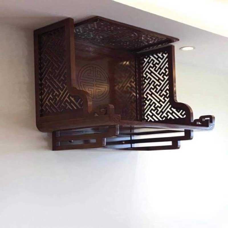 Bàn thờ treo tường vách CNC chuẩn phong thuỷ BO655