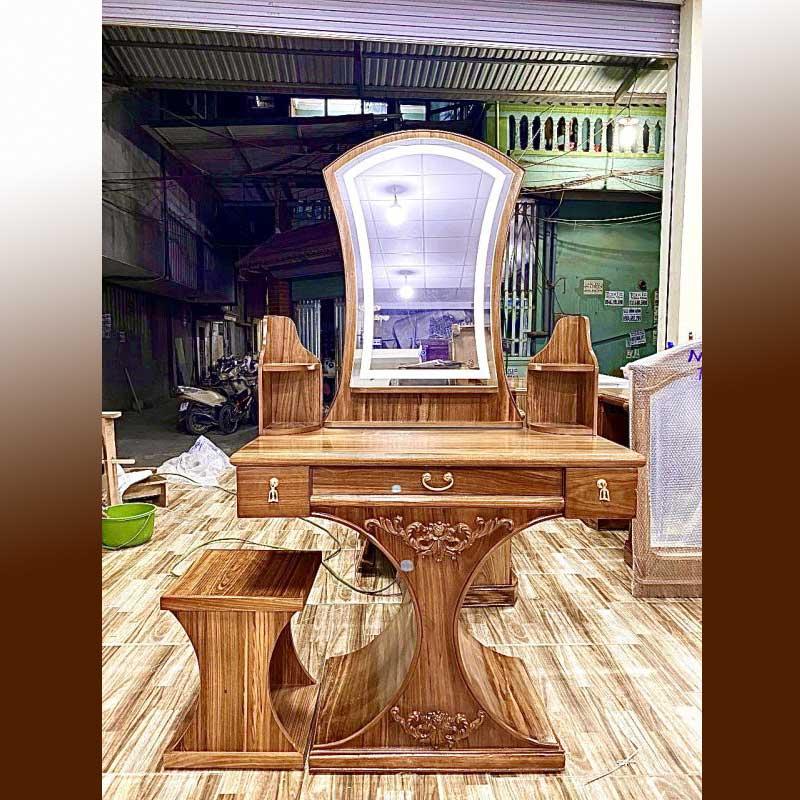 Bàn phấn trang điểm mẫu Tiên Cá gỗ Hương BP568