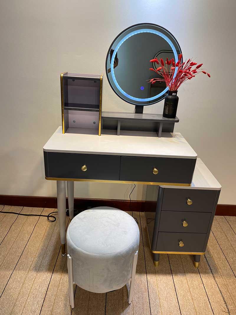 Bộ bàn trang điểm nhập khẩu hiện đại, mẫu đẹp BP262