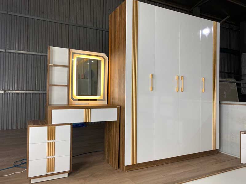 Combo nội thất phòng ngủ gỗ công nghiệp hàng nhập khẩu CB226