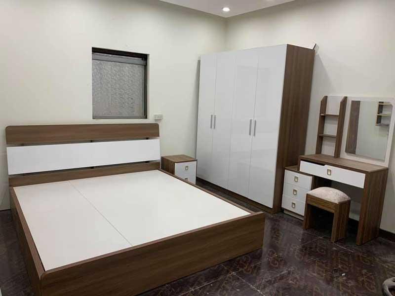Trọn bộ combo phòng ngủ gỗ công nghiệp giá xưởng CB266