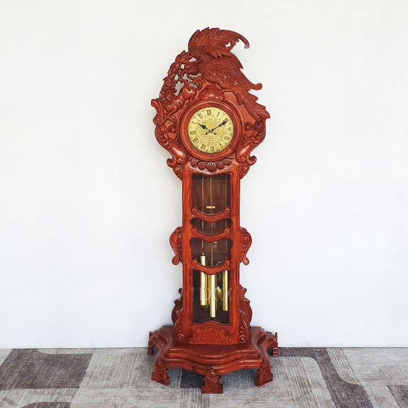 Đồng hồ cây gỗ hương đá mẫu đại bàng DH566