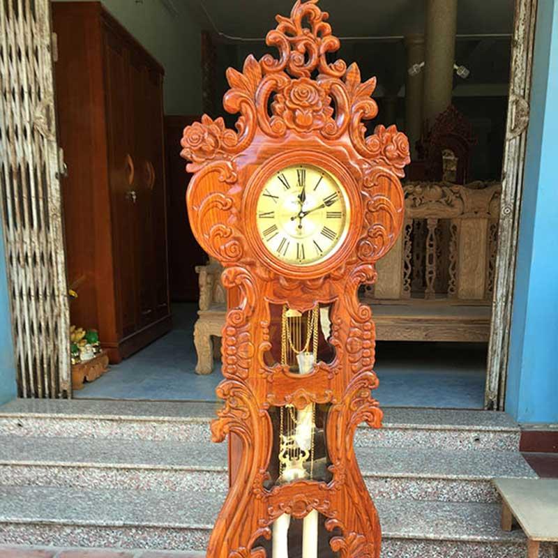 Đồng hồ cây mẫu cây đàn gỗ hương vân DH502