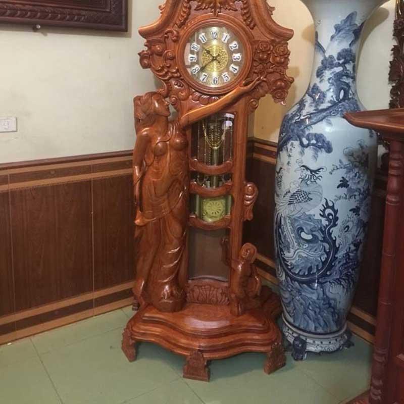 Đồng hồ cây mẫu cô Tiên gỗ hương đá DB599
