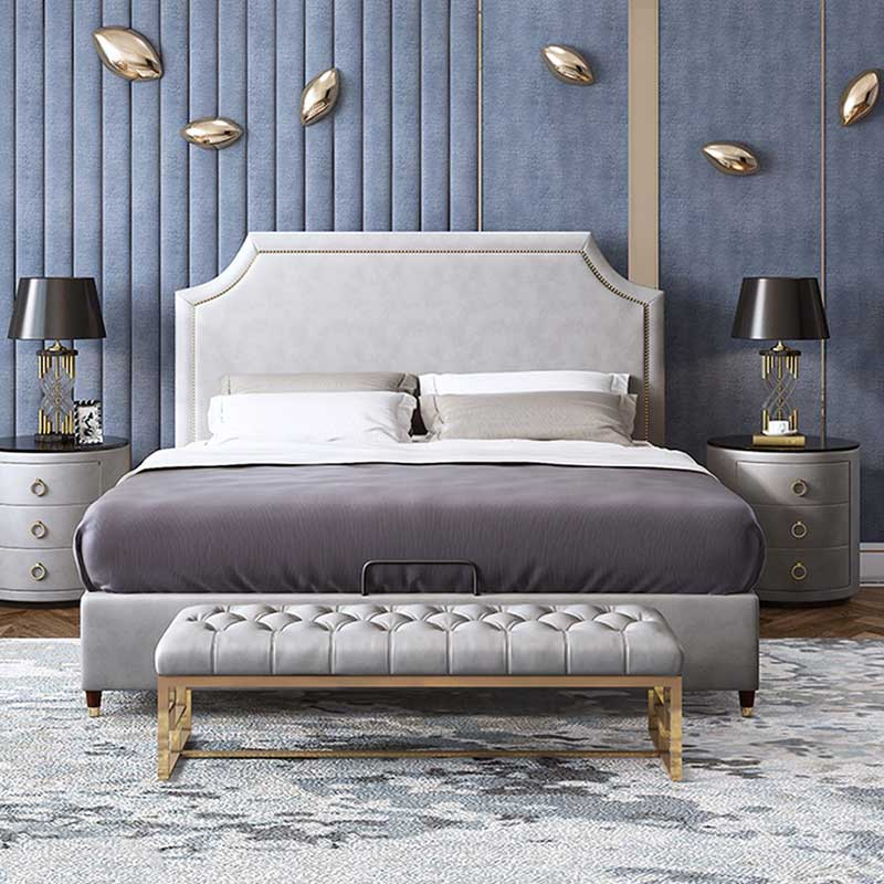 Giường ngủ bọc da phong cách cổ điển sang trọng GN389