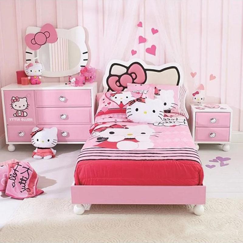 Giường ngủ hình Hello Kitty cho Bé gái GN855