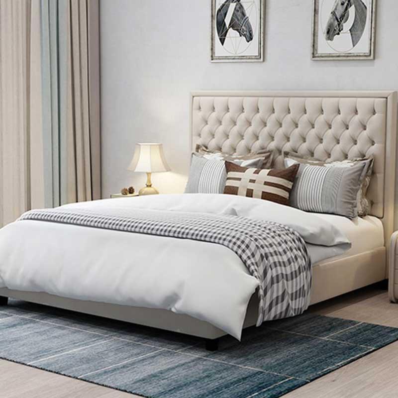 Giường ngủ phong cách Bắc Âu bọc da GN609