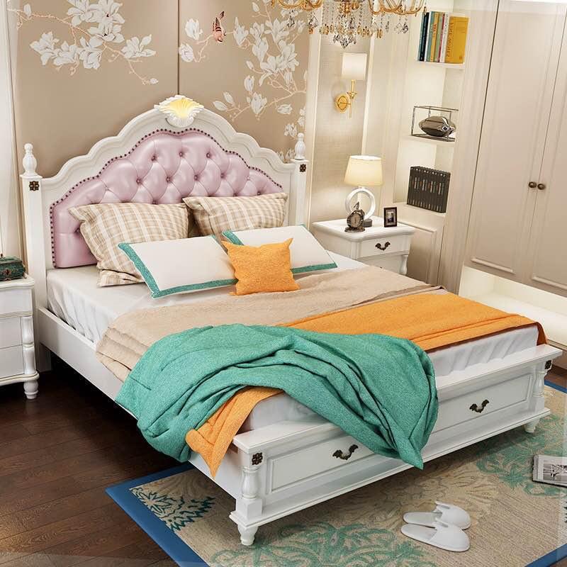 Giường phong cách Mỹ cho phòng ngủ GN069