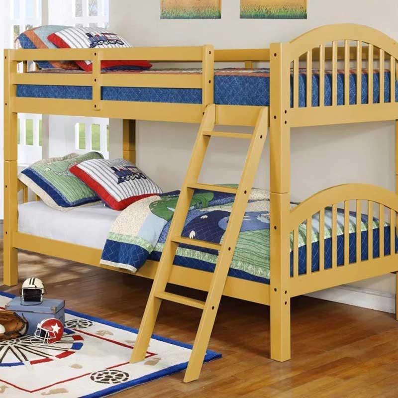 Giường tầng cho Bé chất liệu gỗ thông xuất khẩu GN887