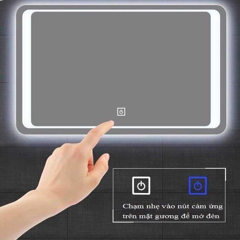 Gương LED cảm ứng treo ngang hình chữ nhật GT869