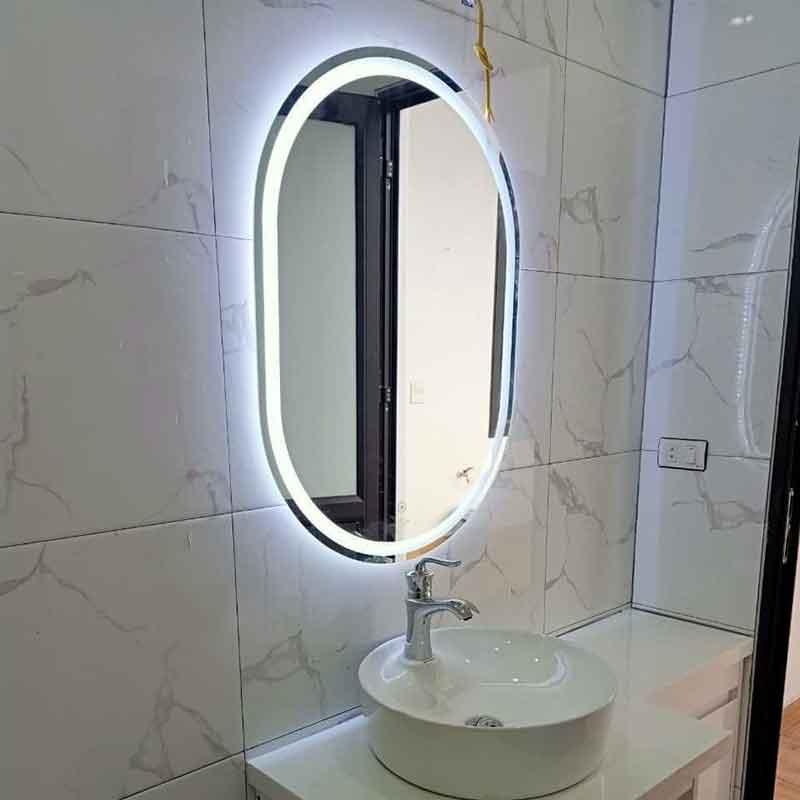 Gương LED phòng tắm hình Bầu Dục cao cấp GT899
