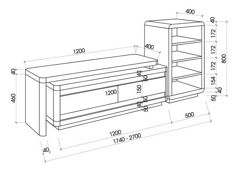 Kệ tivi gỗ công nghiệp phủ Venner sang trọng KT120