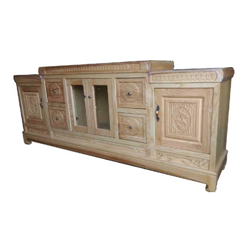 Kệ tivi gỗ sồi Nga nhập khẩu phong cách cổ điển KT469
