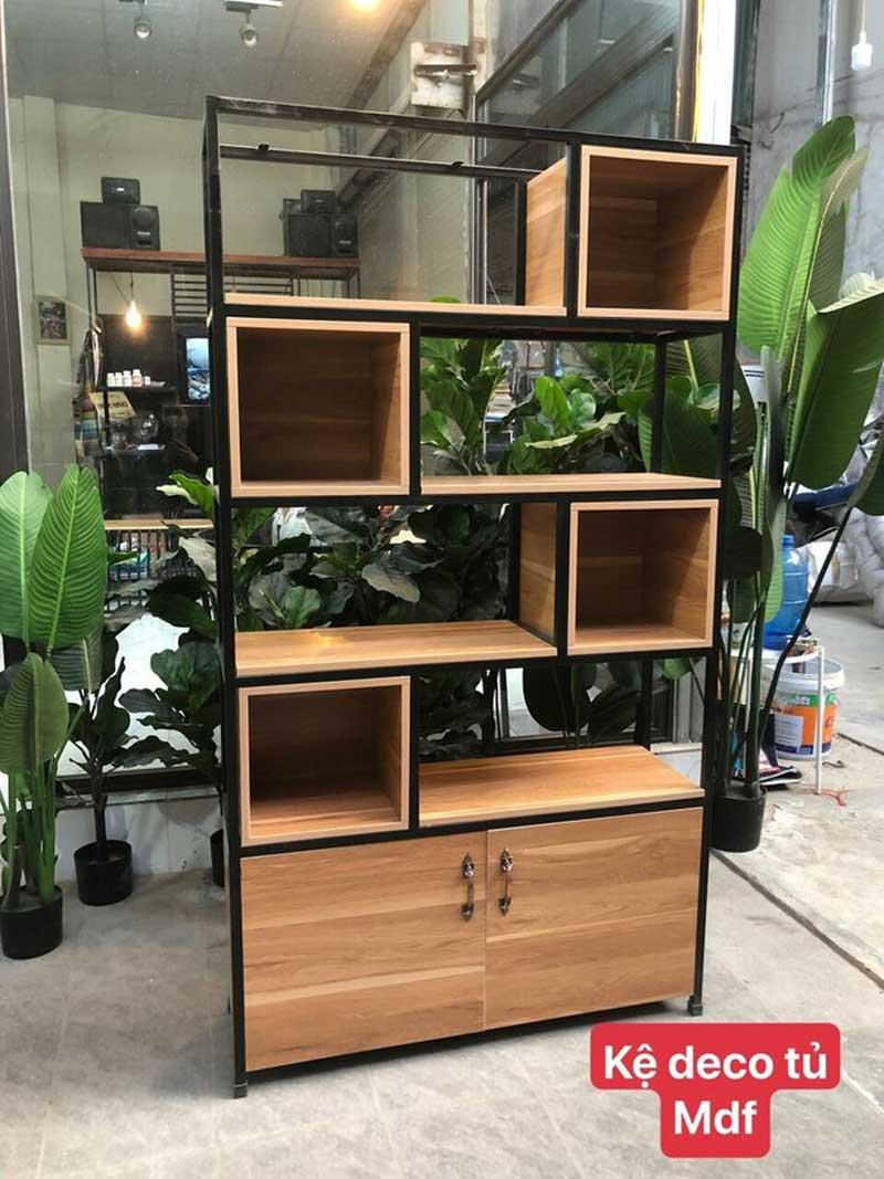 Kệ trang trí Decor kết hợp tủ gỗ công nghiệp MDF KT209