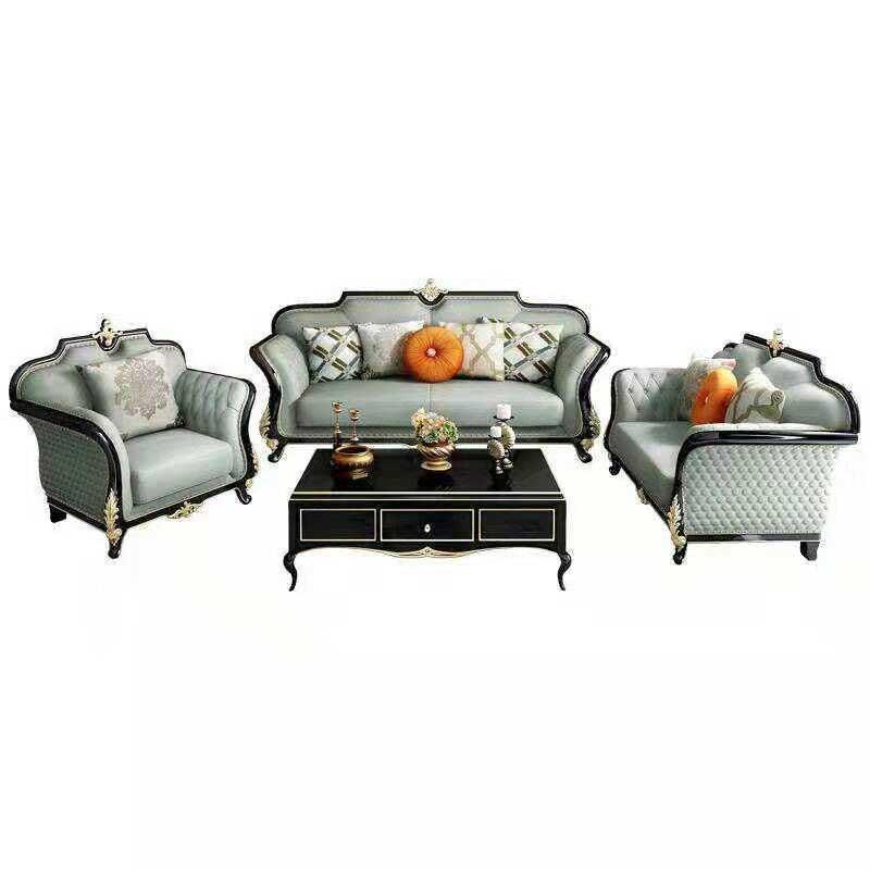 Bộ sofa da phong cách tân cổ điển sang trọng SF606: