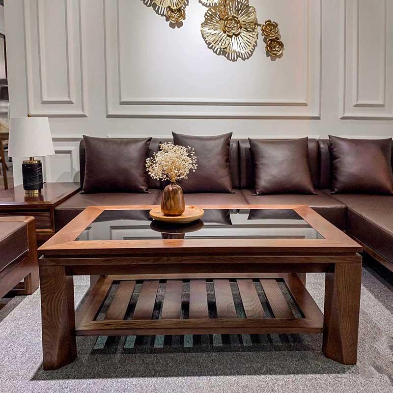Sofa gỗ Óc Chó cao cấp giá tại xưởng SF080