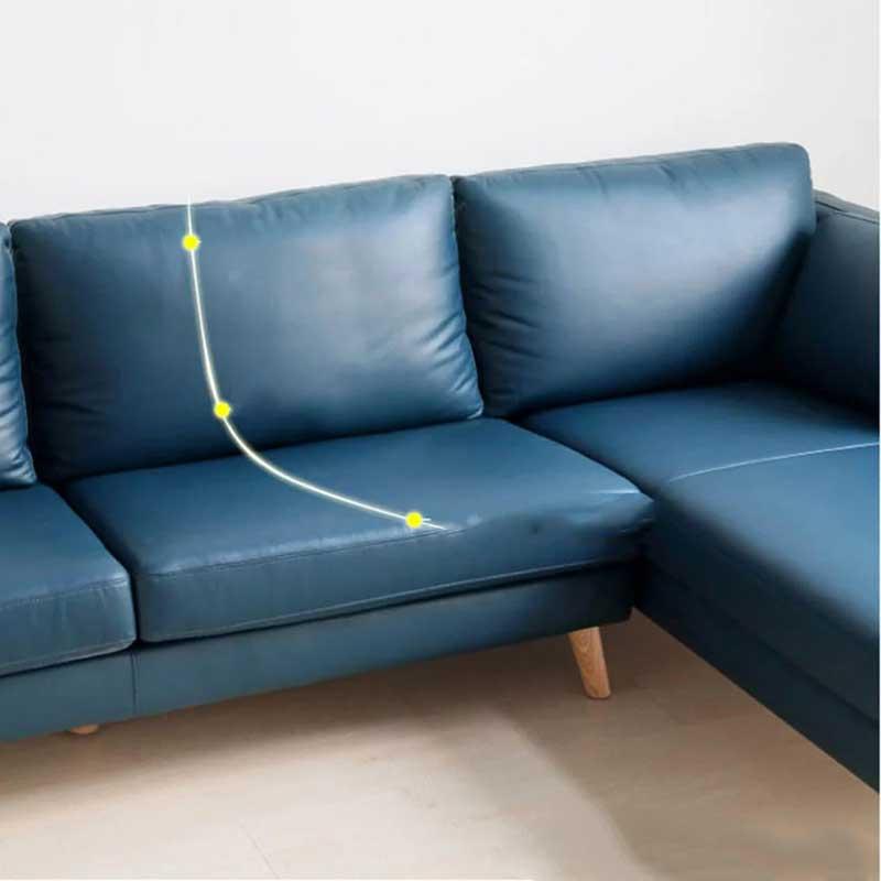 Sofa góc chữ L khung gỗ bọc da sang trọng SF666
