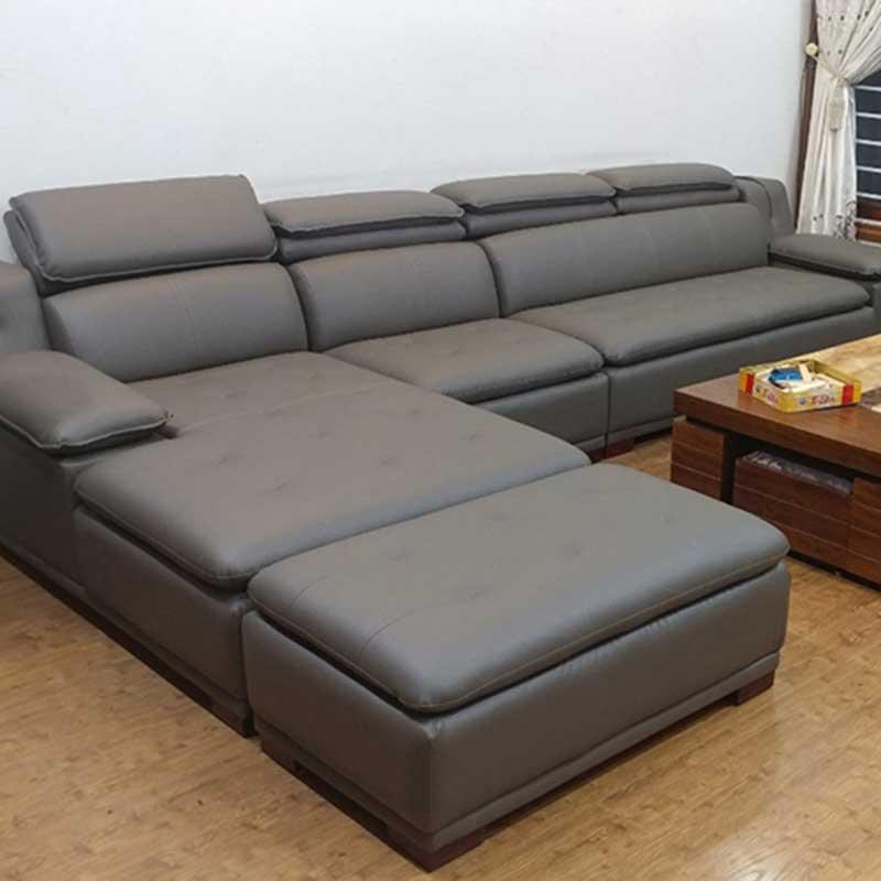 Sofa góc da cao cấp khung gỗ Sồi màu tuỳ chọn SF643