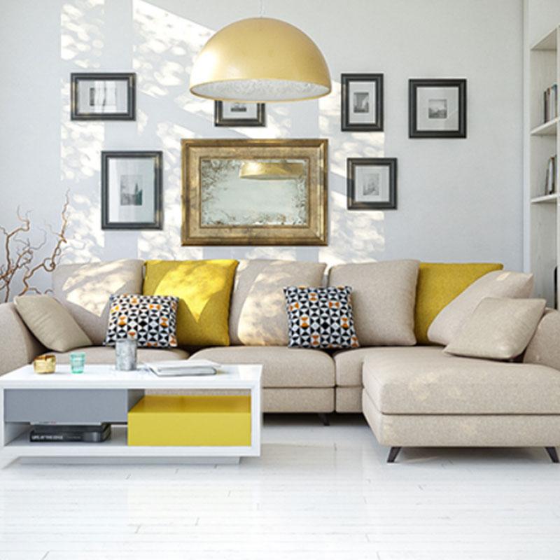 Sofa góc vải bố phong cách hiện đại SF693