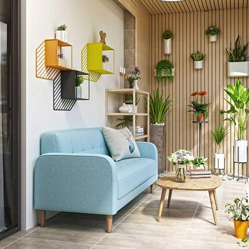 Sofa nỉ kiểu dáng nhỏ gọn cho phòng khách SF827