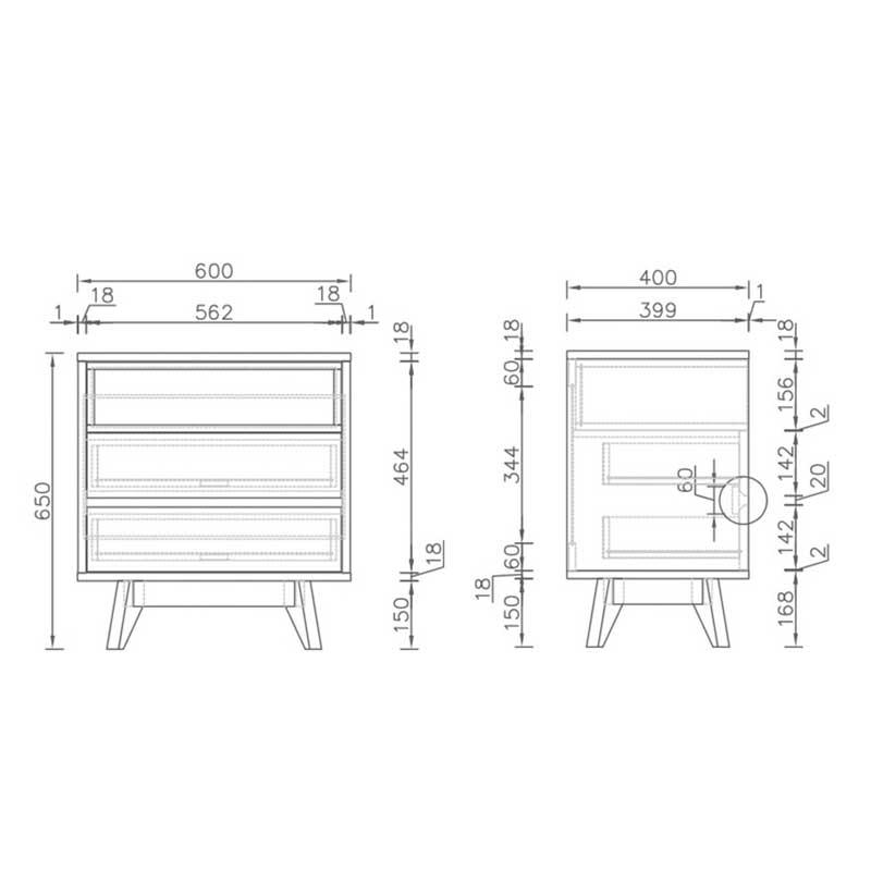 Kệ đầu giường gỗ MDF màu vân gỗ nhỏ gọn TD289