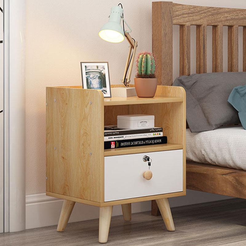 Tủ đầu giường gỗ công nghiệp có khóa TD559