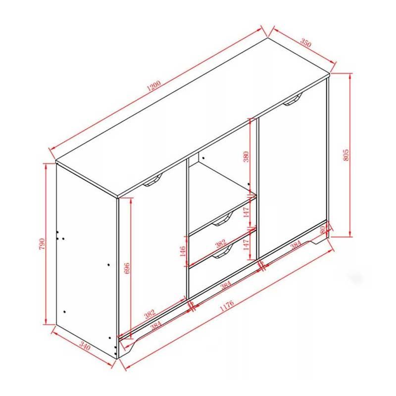 Tủ bếp gỗ công nghiệp MDF phủ Melamine giá rẻ TB676