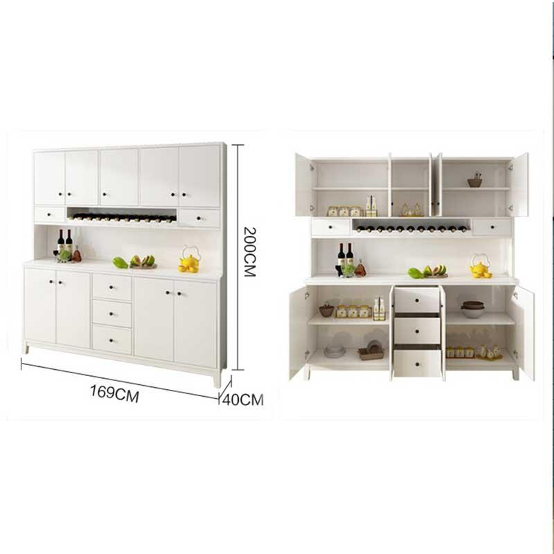 Tủ bếp module gỗ công nghiệp màu trắng trang nhã TB679