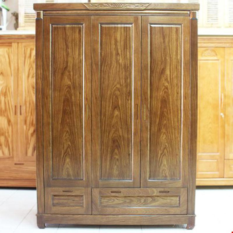 Tủ quần áo gỗ Óc Chó 3 cánh cao cấp TQ999
