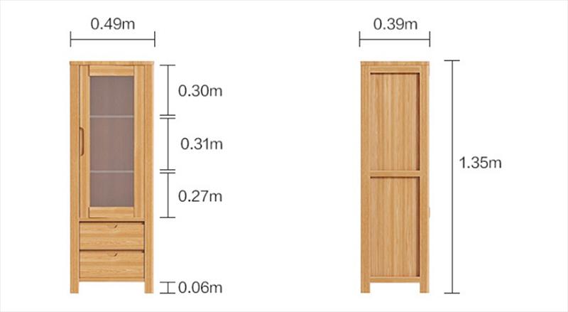 Tủ gỗ trang trí đẹp hiện đại cho phòng khách TT221